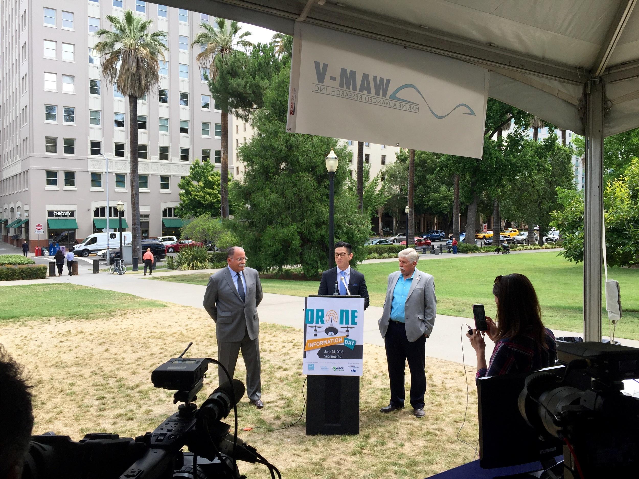 Assemblyman Evan Low addresses Drone Information Day