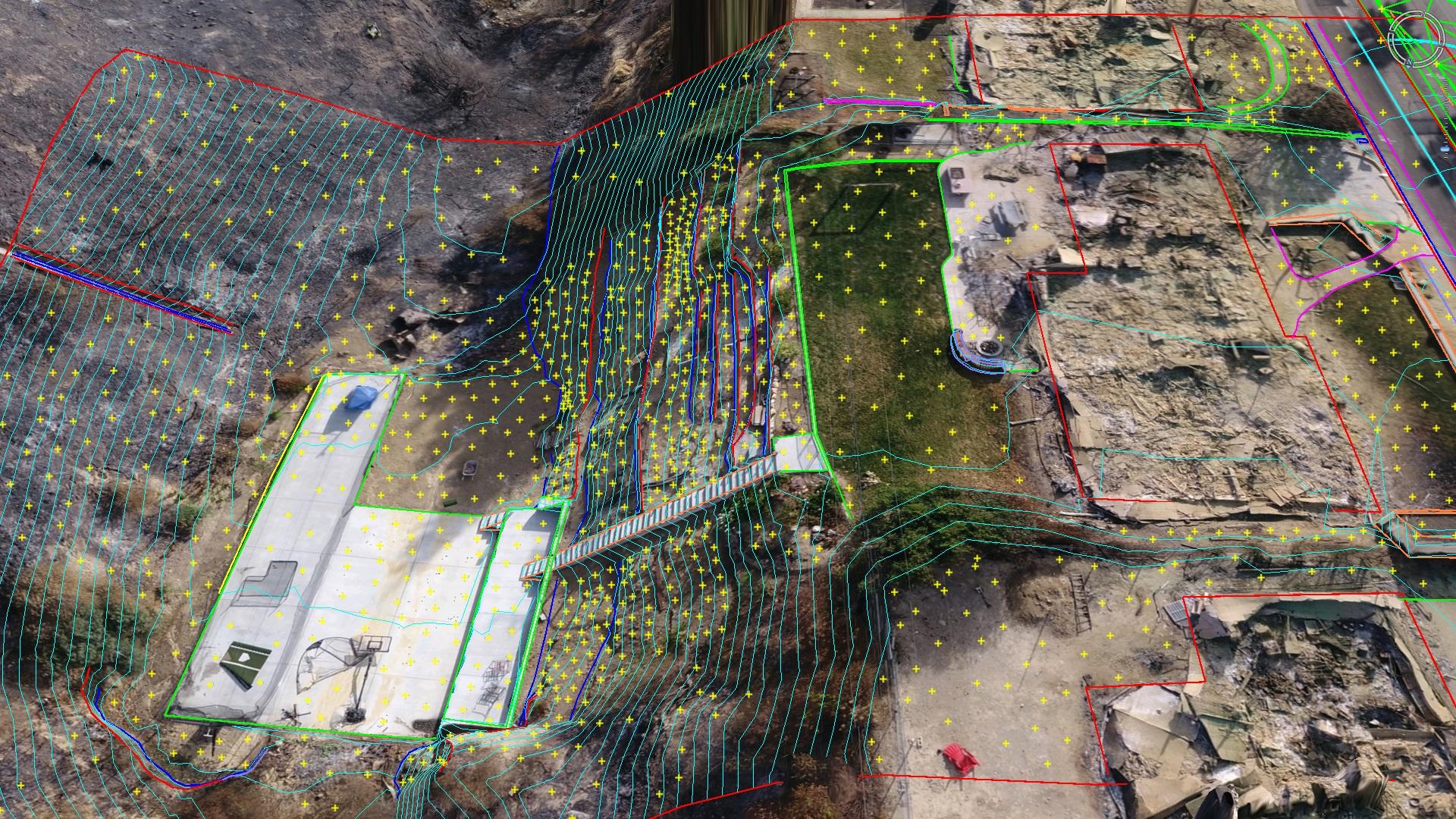 Drone linework CAD survey