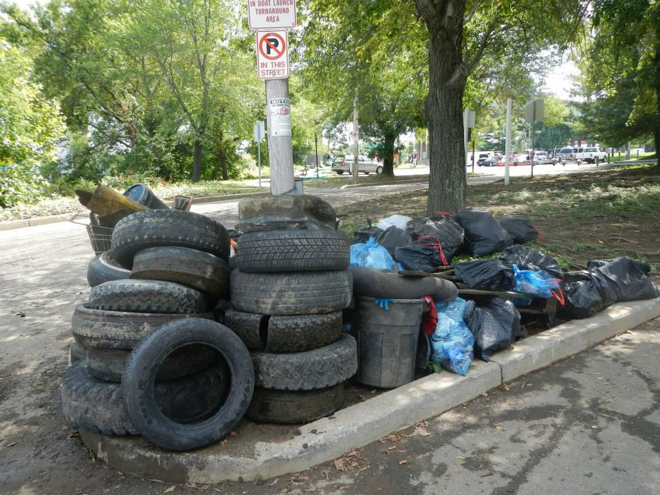 """""""Standing in front of a heaping pile of garbage that they removed from Pittsburgh's riverbanks, they demonstrated what was possible using just a handful of kayaks, paddleboards, trash bags and cameras. """""""