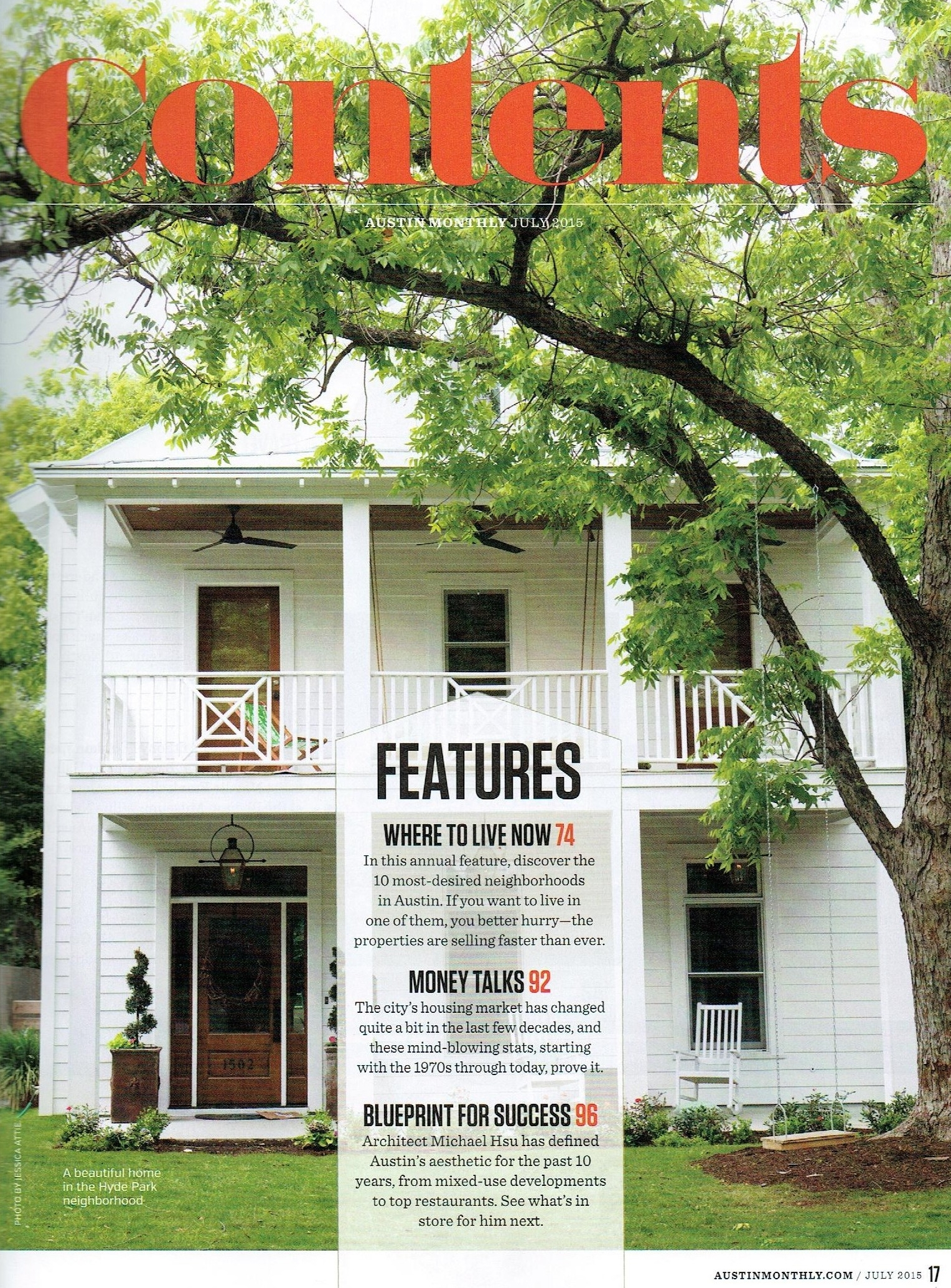 30th Street Residence, Austin Monthly July 2015