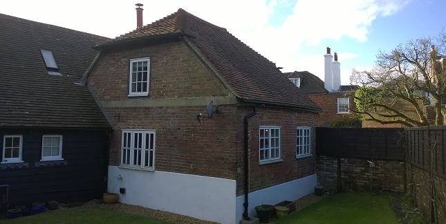 Our role/the project  - install insulation and air-tightness measures in a Grade two listed extension to enable it to be used in winter. Using natural insulation and lime plaster to maintain vapour permeability of the structure we also liaised with the local conservation officer to ensure compliance with the listing.