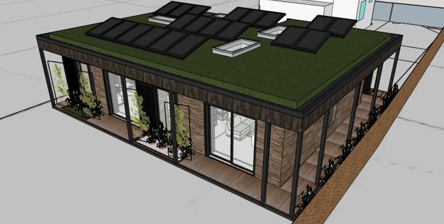 Our role - Passivhaus design, construction design, services design, project management.  The project - new build Passivhaus low energy building near Emsworth Hampshire