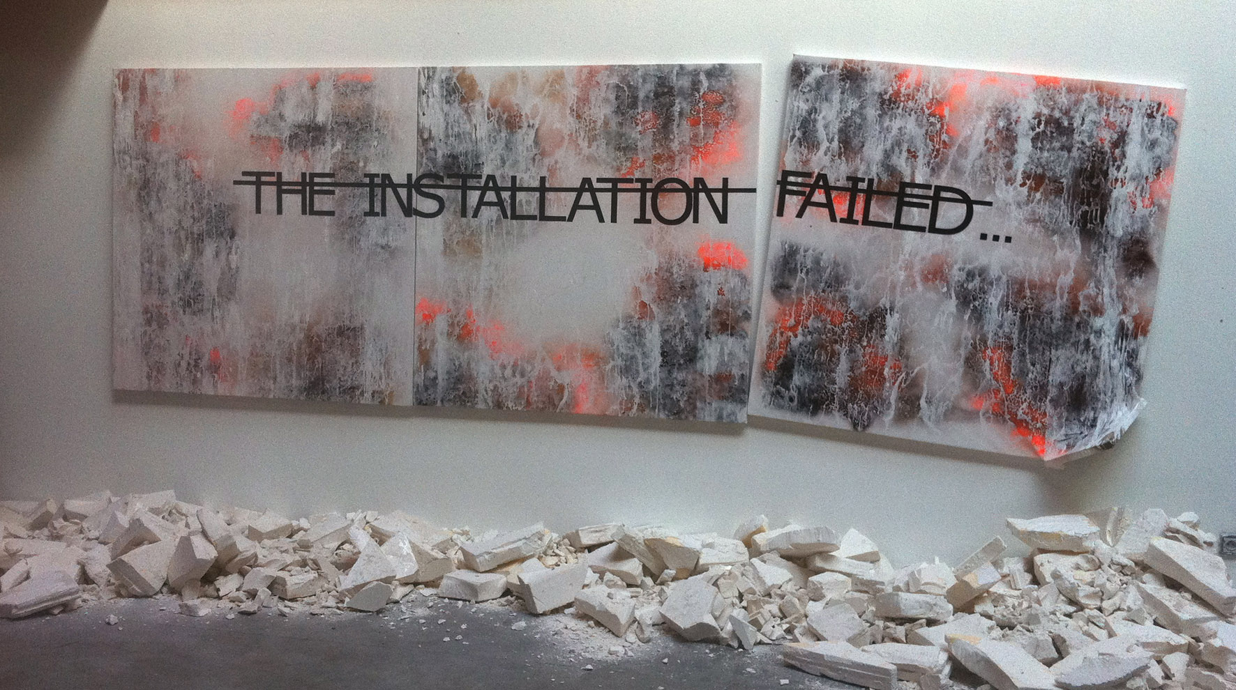 Sans titre (THE INSTALLATION FAILED...), 2012
