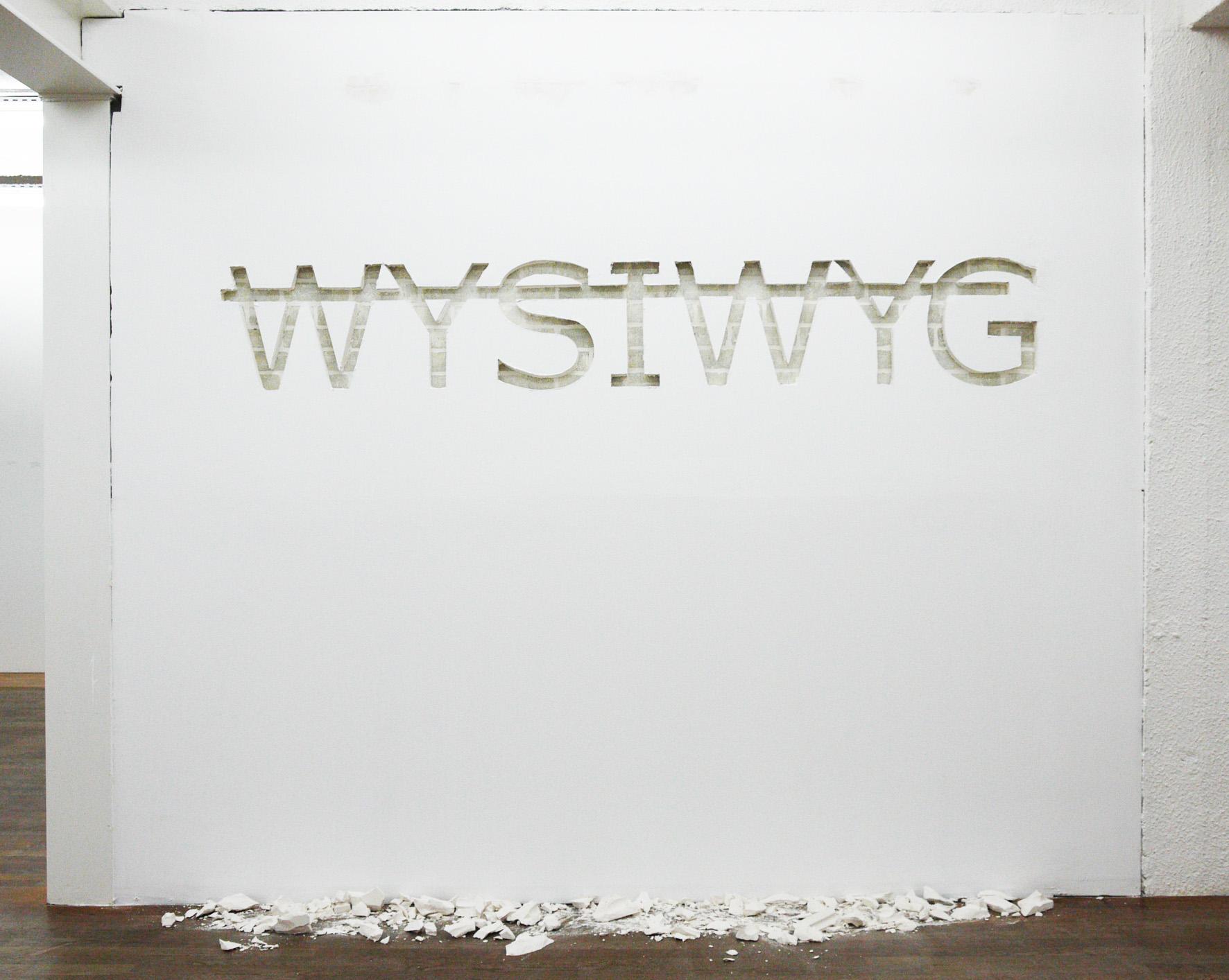 Sans titre (WYSIWYG), 2011