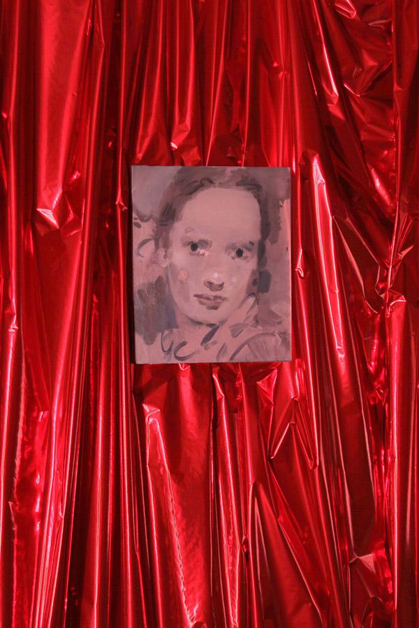 Kaye DONACHIE. The day returns too soon, 2013. Huile sur toile  \Oil on canvas. 50,5 x 41 cm. Courtesy de l'artiste et Maureen Paley, Londres