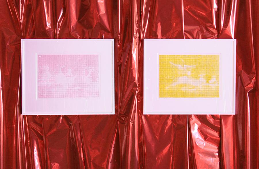 Loïc RAGUENES. Derviches tourneurs VI (rose) et Derviches tourneurs IV (jaune), 2005. Crayon de couleur sur papier  \Color pencil on paper . 26 x 36 cm. Courtesy de l'artiste