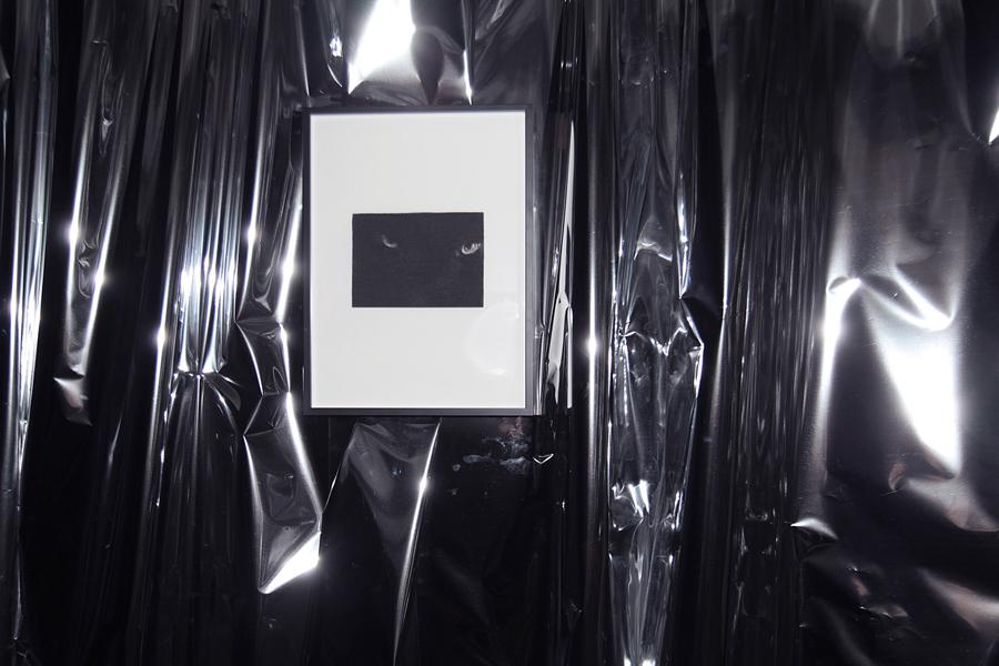 Damien CADIO. Seasons Reverser, 2012. Fusain sur papier  \Charcoal on paper . 30 x 40 cm. Courtesy de l'artiste et Galerie Eva Hober, Paris