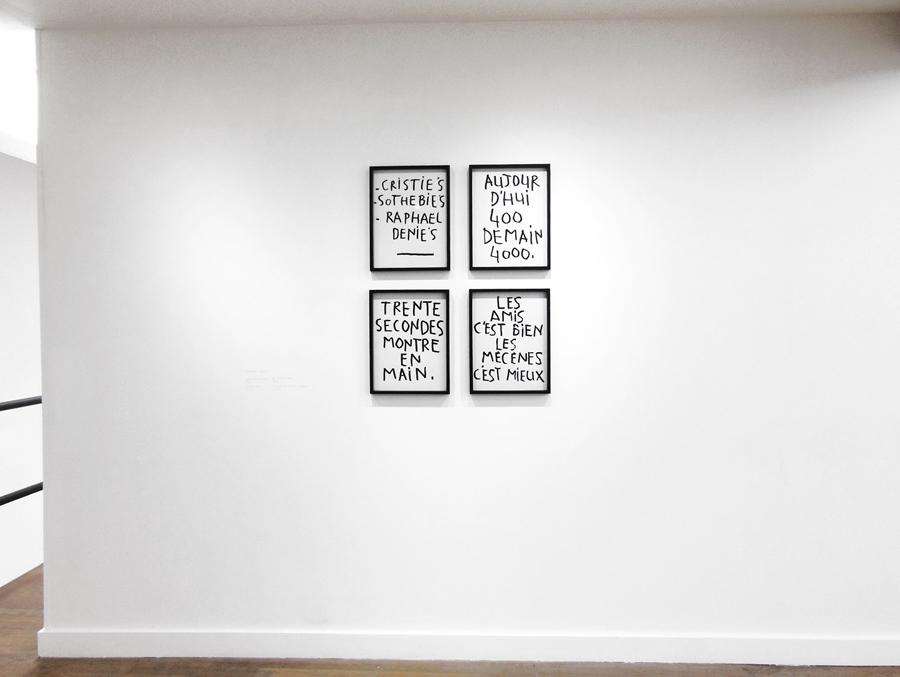 RAPHAEL DENIS   Vanitas vanitatum, 2012; Le juste prix \ the right price, 2012; Exécution, 2012; Swimming with sharks, 2012.  Encre sur papier \ Ink on paper. 40 x 30 cm
