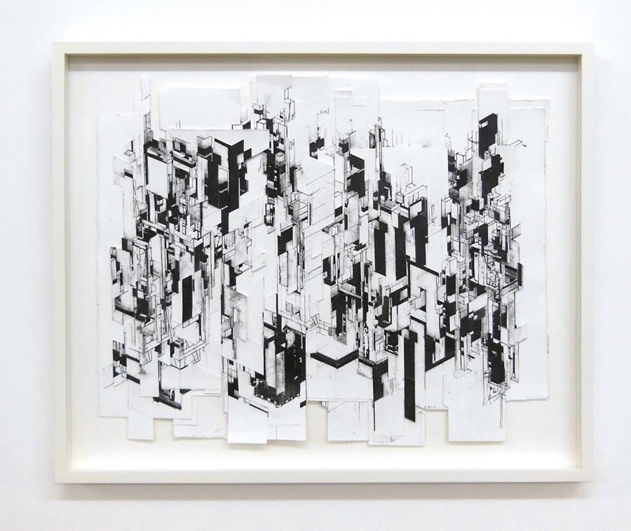 BORIS TELLEGEN   Scrapers, 2012. Collage. 42 x 51 cm