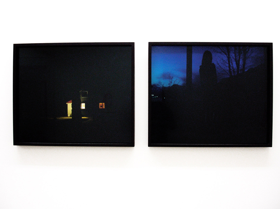 ASTRID KRUSE JENSEN       The Hidden House, 2006 & Waiting, 2006.  C-Print. 50 x 60 cm. Edition n°2/5