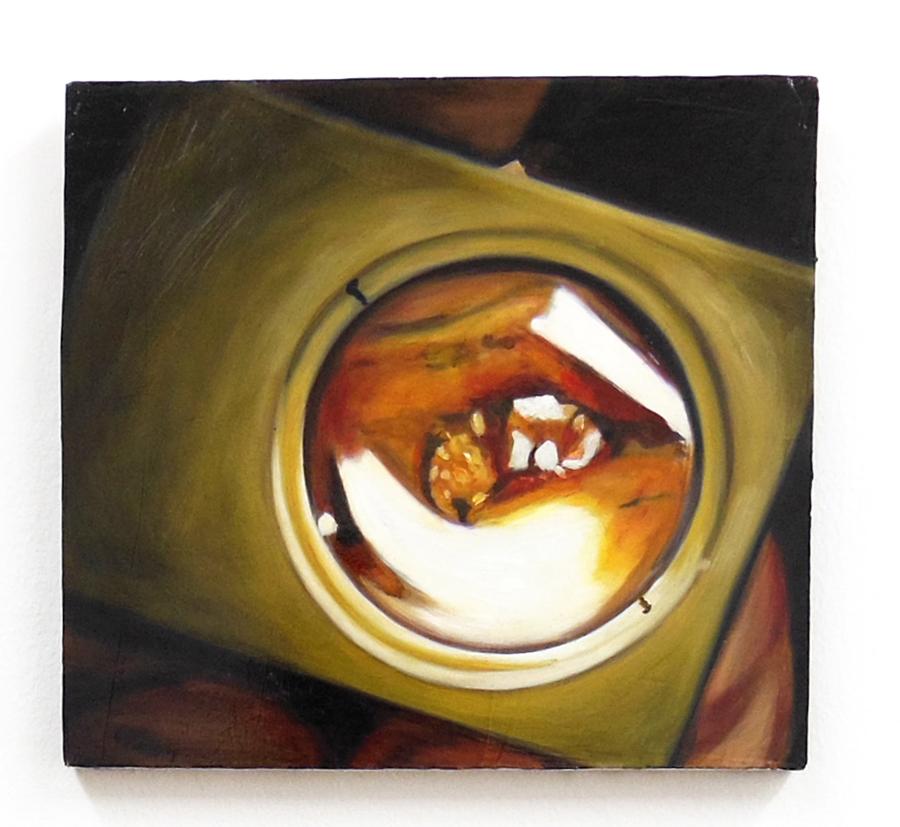 AURORE PALLET   Agrandir \ Enlarge, 2012. Huile sur bois \ Oil on wooden panel. 25 x 22 cm