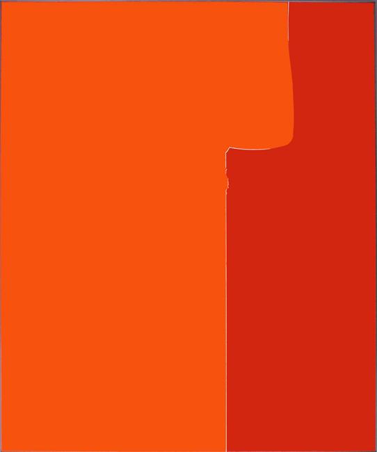Sans titre (Vue d'atelier #2) \ Untitled (Studio view #2), 2013.  Adhésif verni sur aluminium thermolaqué \ Varnished adhesive on aluminium. 180 x 150 x 2,5 cm