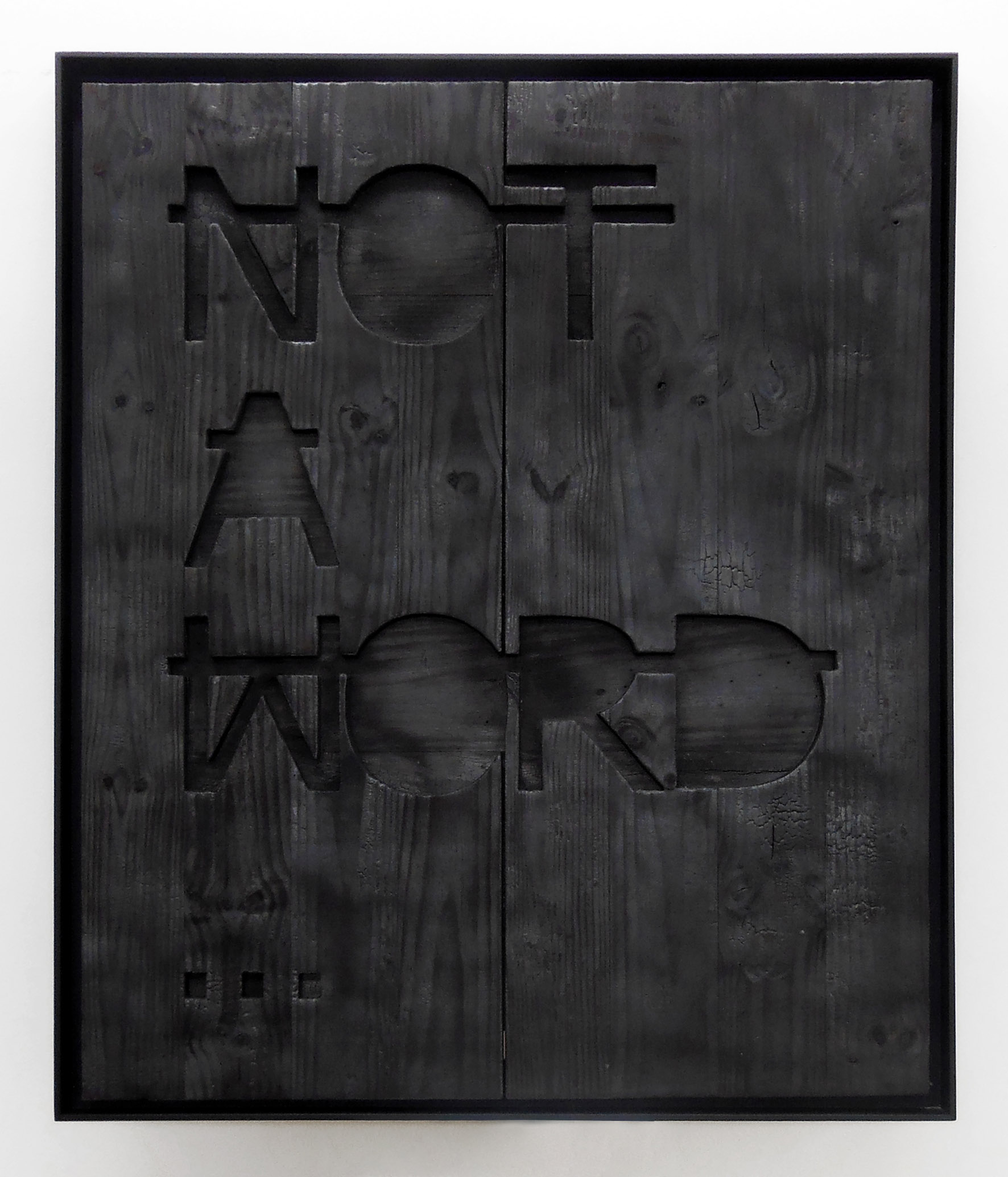 Sans titre (NOT A WORD...), 2014