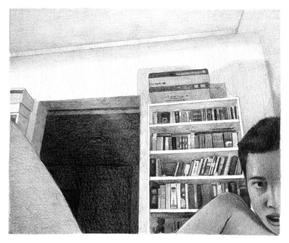 Webcam 55, 2016. Crayon sur papier / Graphite on paper. 12,5 x 15 cm