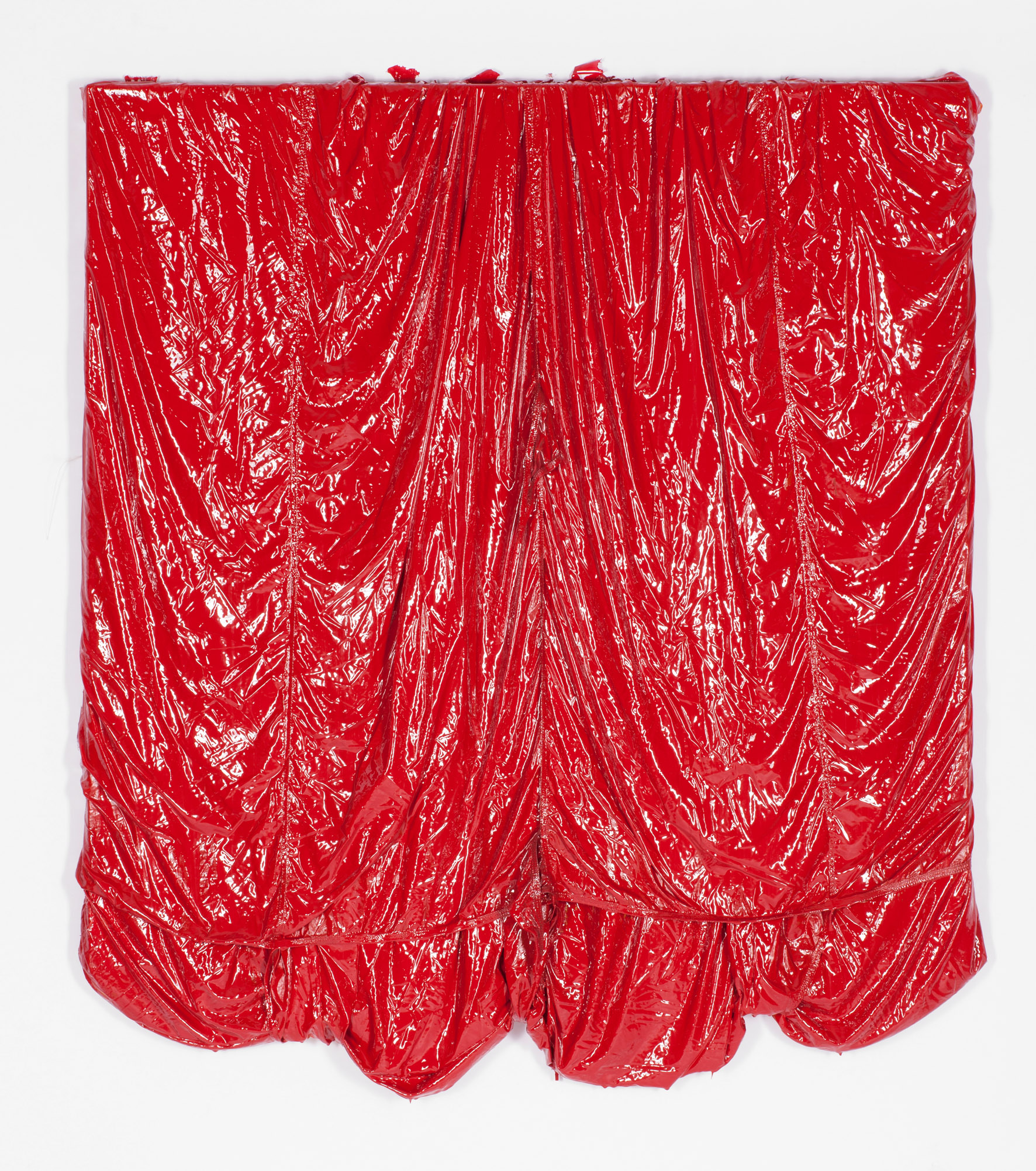 Parachute Painting (red) #100, 2017