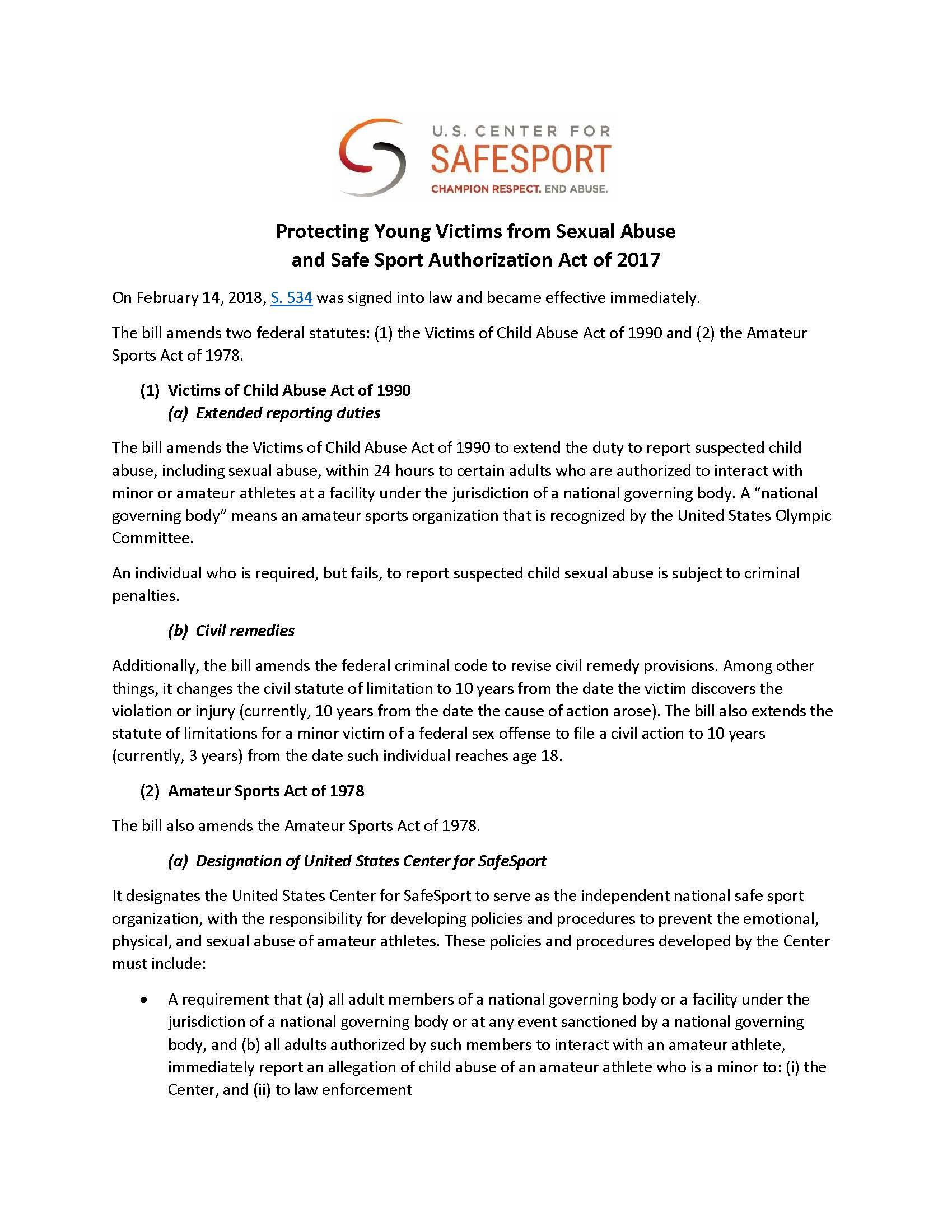 Fact Sheet - Protecting Young Victims from Sexual Abuse and Safe Sport Authorization Act of 2017_Page_1.jpg