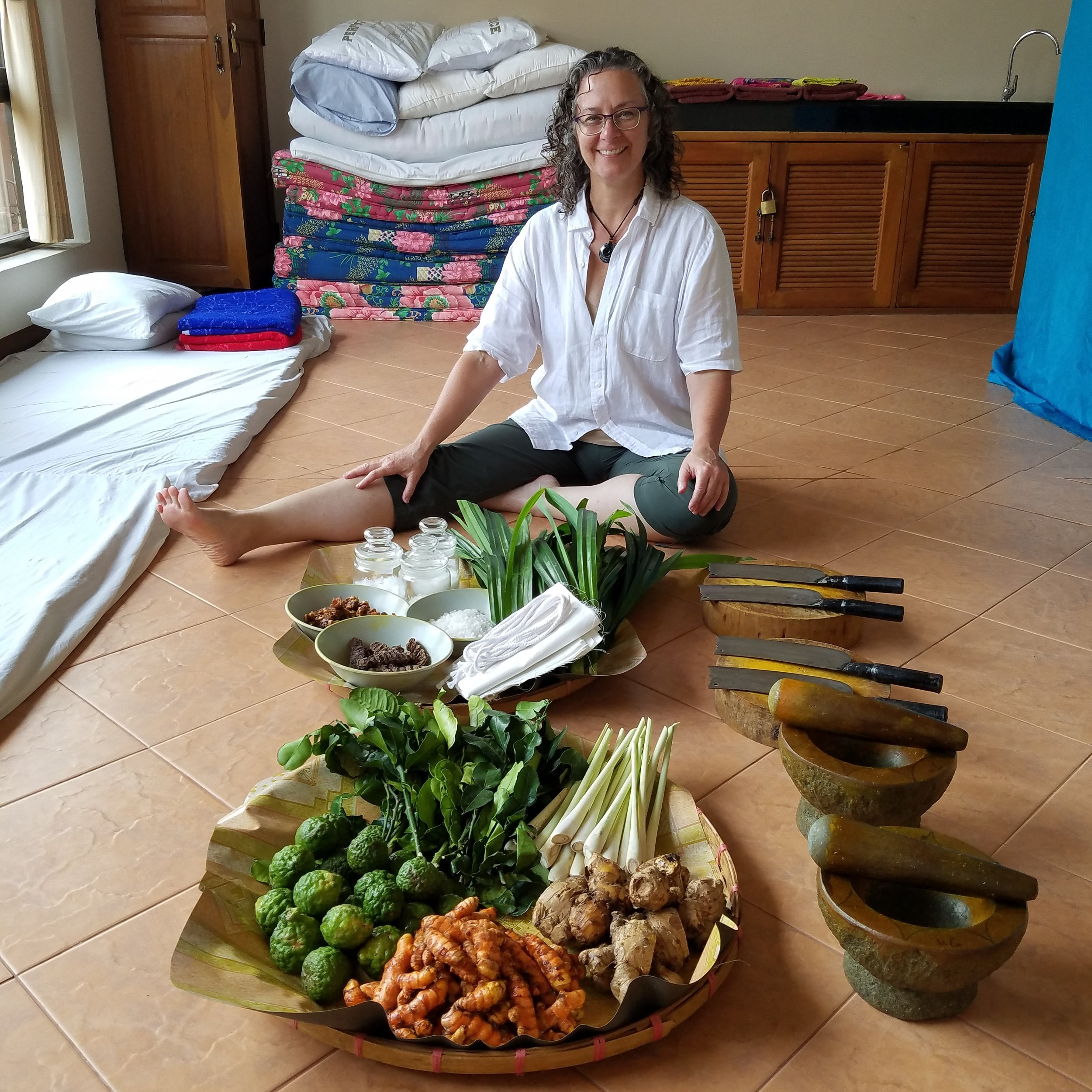 Liz at the Sunshine School in Chiang Mai Thailand