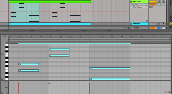 Octave up and down - 7 Useful Ableton Shortcuts and Key Commands in Live 9