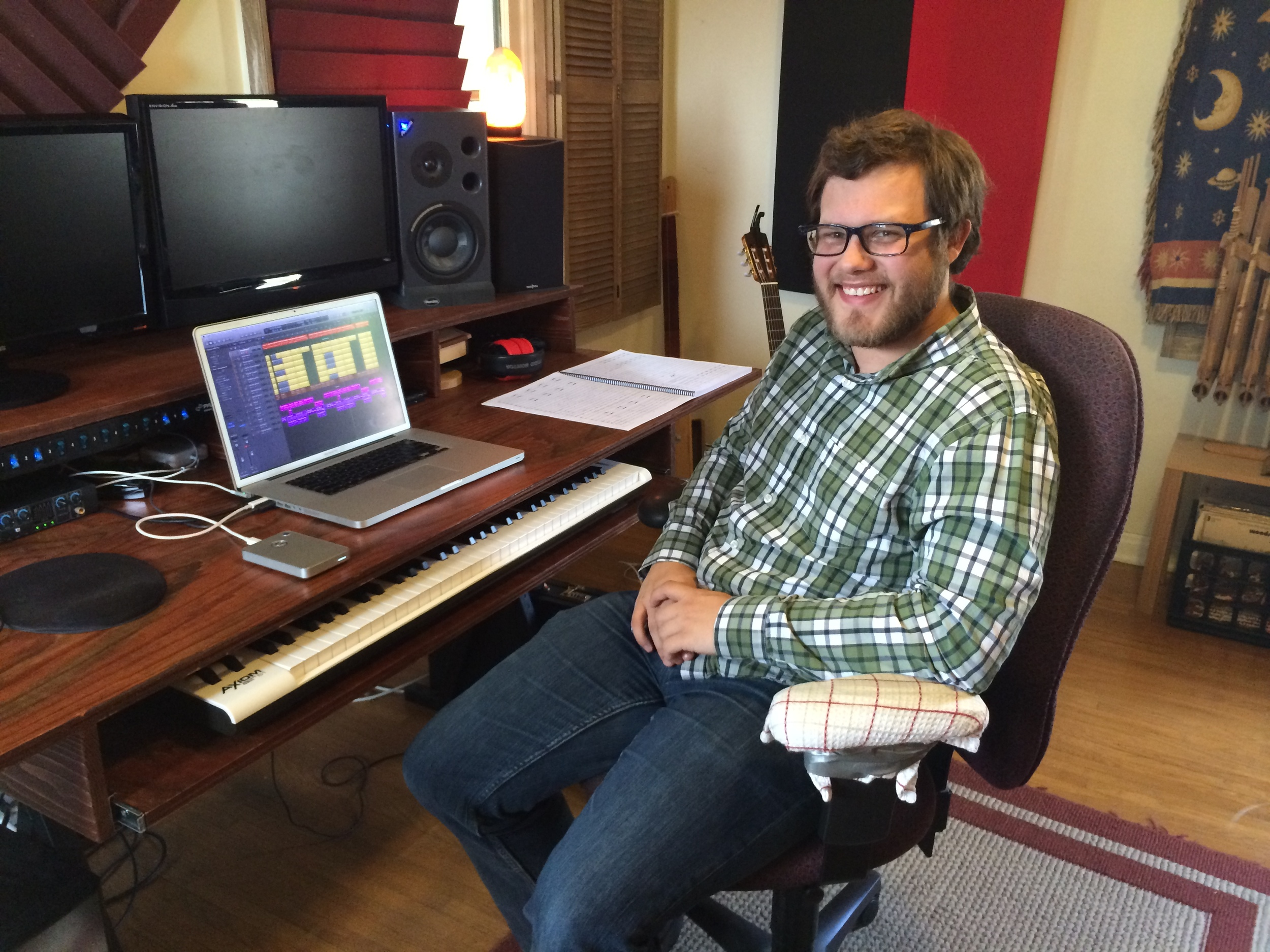 Brennan Anderson (Disney Interactive) at his home studio