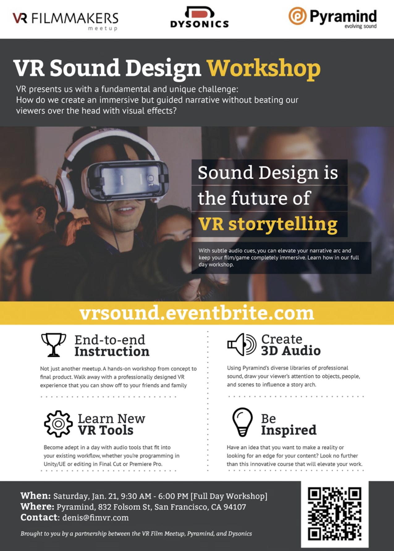 VR Sound Design Workshop - Pyramind - VR FIlmmakers