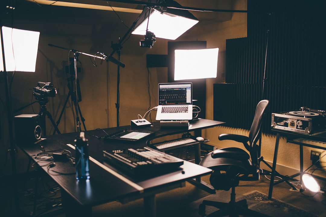 """""""The Set,"""" where we film most of our YouTube tutorials"""