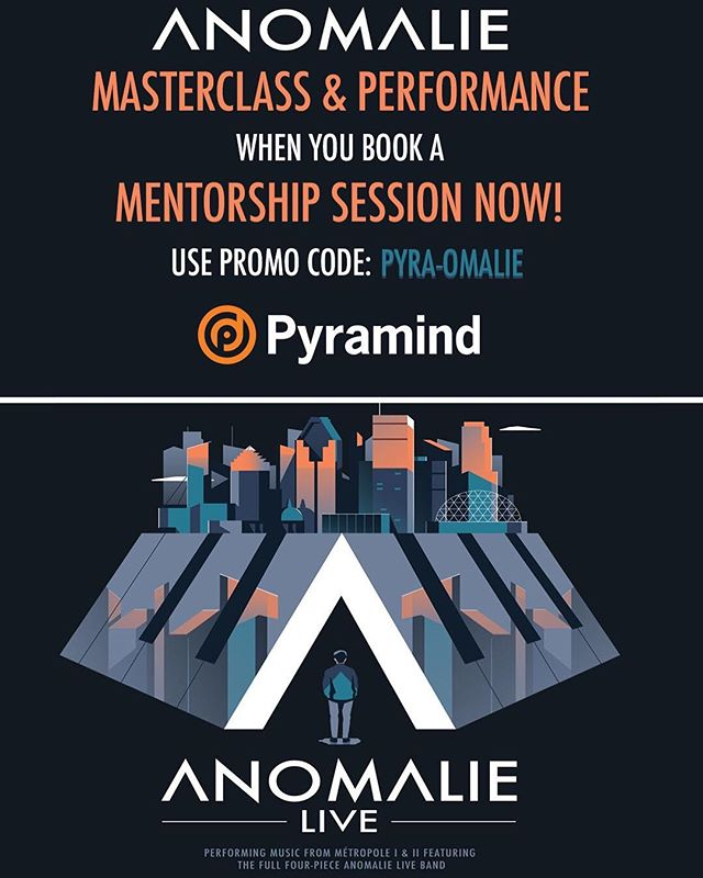 #Giveaway time!! The first 5 people to book a mentorship session with the code PYRA-OMALIE will win free tickets to the @anomaliebeats show at @augusthallsf  on April 25th! The first one to book will also receive free tickets to his Masterclass on that same day Enter at the link in our bio :) #linkinbio #bayareamusic #free