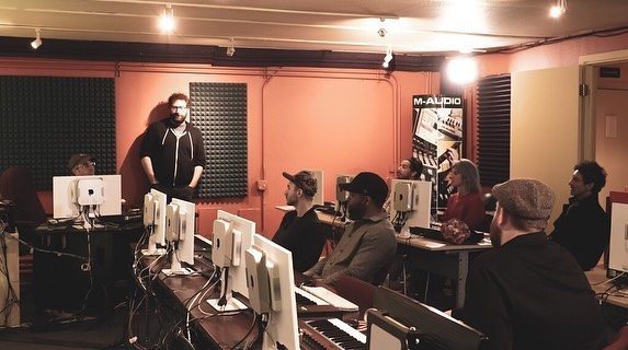 We are so proud to welcome our May 2019 students :) They've got a long year ahead of them!  We still have room in our Night classes for May, but this is your last week to sign up, contact us at the link in our bio ASAP  #studio #producer #audio #orientation #school