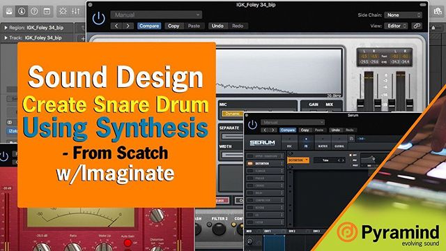 We're hitting you with another @iamimaginate sound design #tutorial, this time he's breaking down #snare #synthesis, and he's starting from scratch!  #proaudio #drums #sounddesign #foley #producer