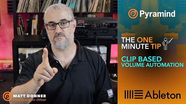 Matt Donner takes a break from the Breakdown to give you some tips as fast as possible: One Minute Tips starts now! Check it out at the link in our bio #tips #producer #music #tutorial #pyramind