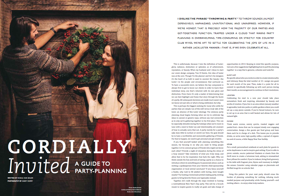 December 2012. Darling Magazine, Issue 2.