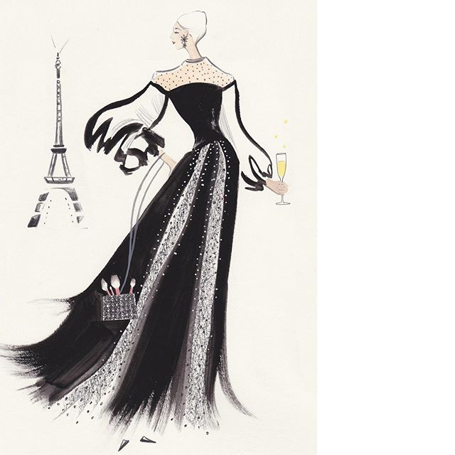 Illustration made for an upcoming event by Saks Fifth Avenue and Impact 100 Oakland County. Can you guess the theme? #nicolejarecz #illustration #fashionillustration #fashionillustrator #fashionart #fashionsketch #paris #parisienne #eiffeltower #luxury #mode #beauty #editorialillustration #fashioneditorial #chic #fashionweek #detroitblogger #detroitartist