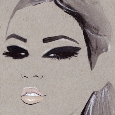 Glam ✨ #nicolejarecz #illustration #fashionillustration #fashionillustrator #fashionart #parisienne #detroitblogger #detroitartist #glam #beauty #smokeyeye #chanelbeauty #backstage #painting #girlboss