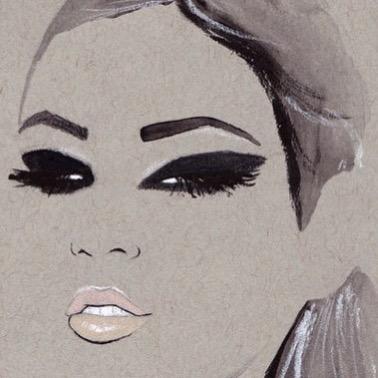 Glam ✨ #nicolejarecz #illustration #fashionillustration #fashionillustrator #fashionart #parisienne #detroitblogger #detroitartist #glam #beauty #smokeyeye #chanelbeauty #backstage #painting #girlboss