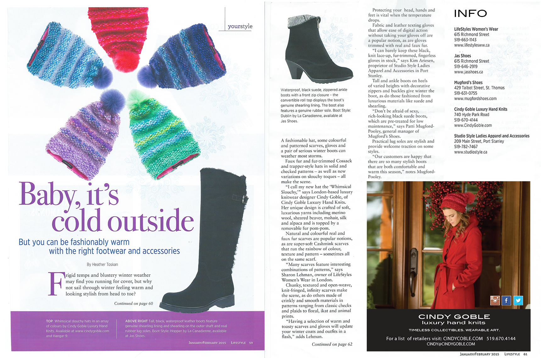 Featured article in LIFESTYLE MAGAZINE, January/February 2015 issue