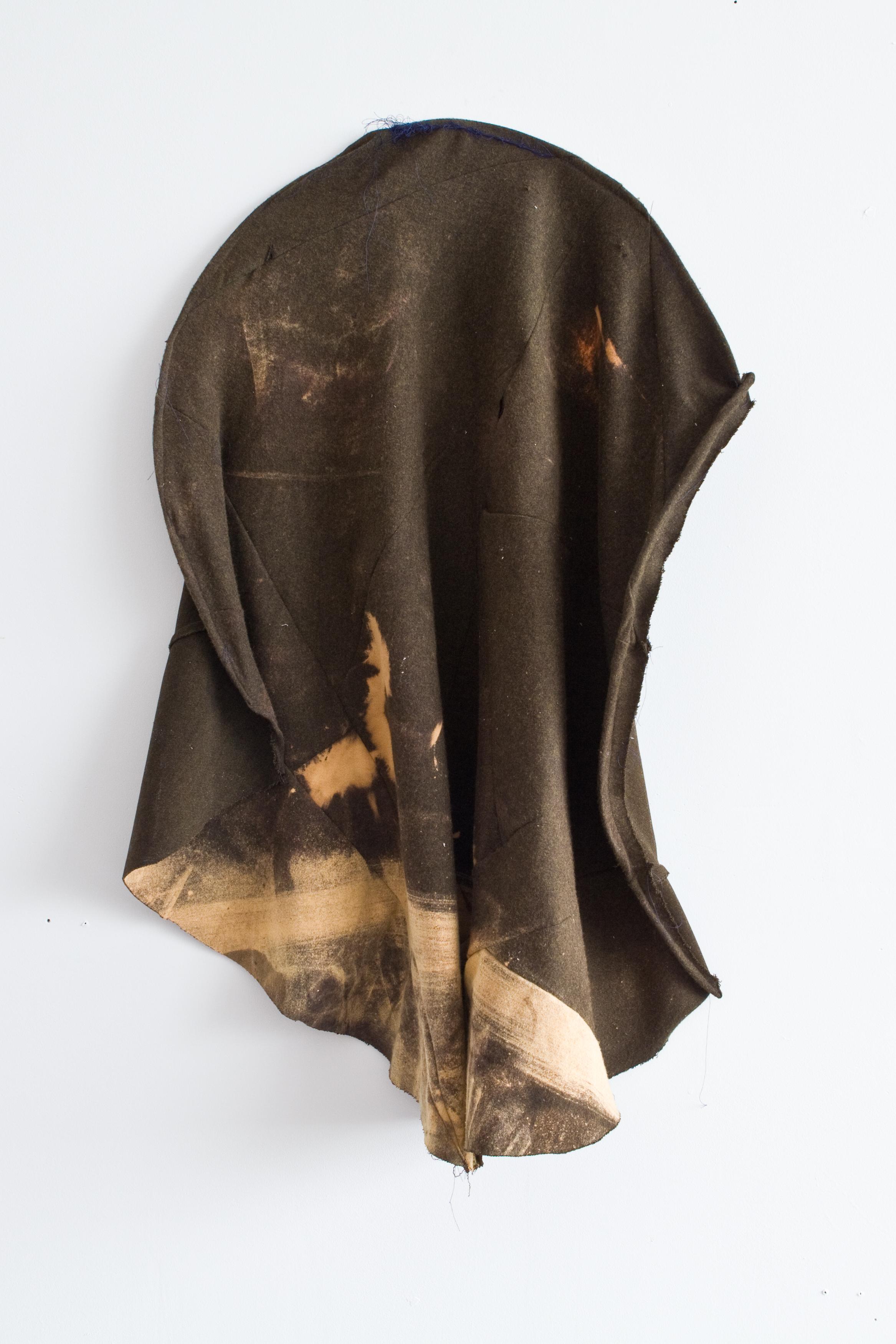 R.F.S. | Sewn fabric, steel wire, bleach, 2017