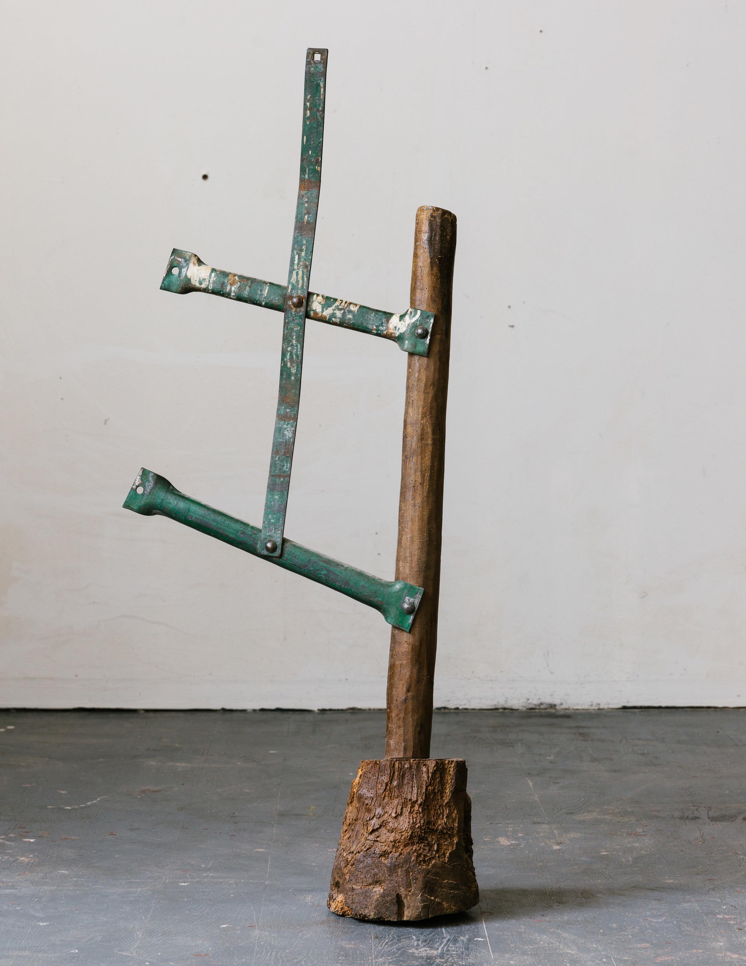 Hahn da Rosa | Wood, metal, hardware, 2018, 39 x 21 x 8 inches