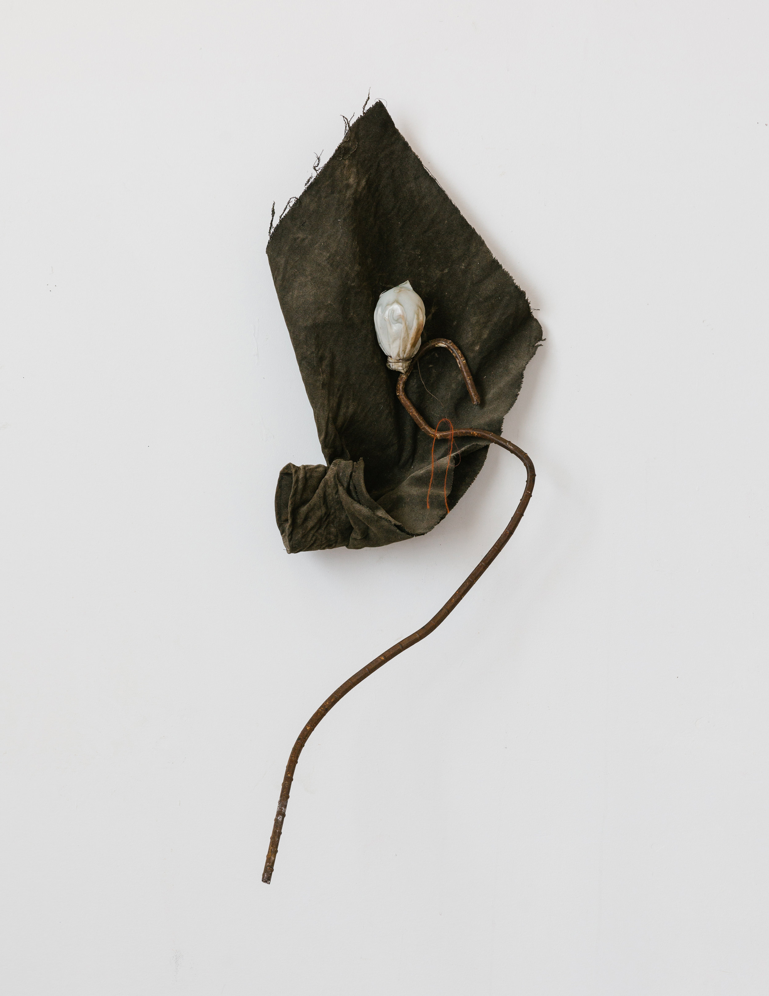 Caddis | Steel, lightbulb, fabric, wire, polyurethane, string, 2017