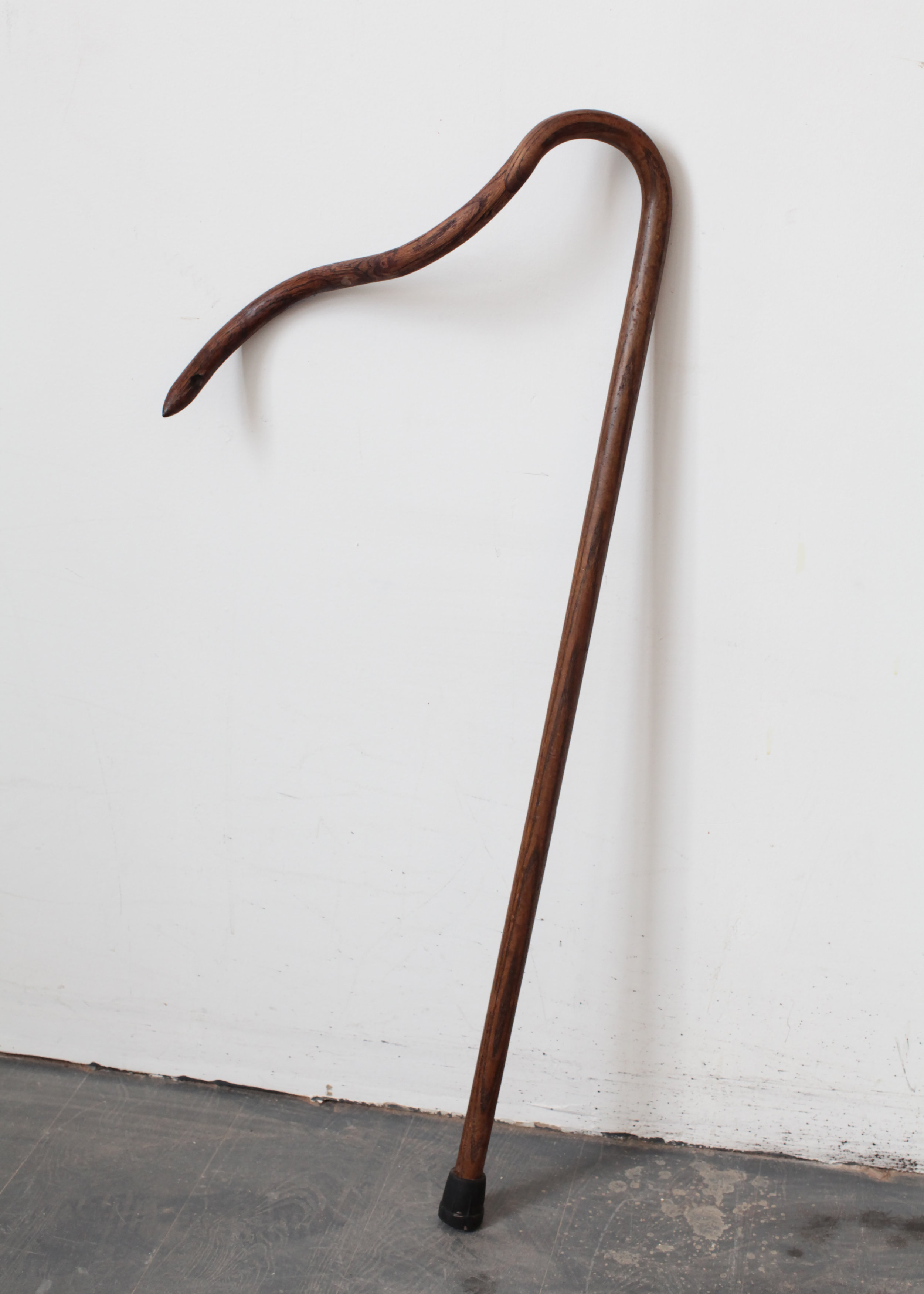 Used walking cane  with found wood, stained