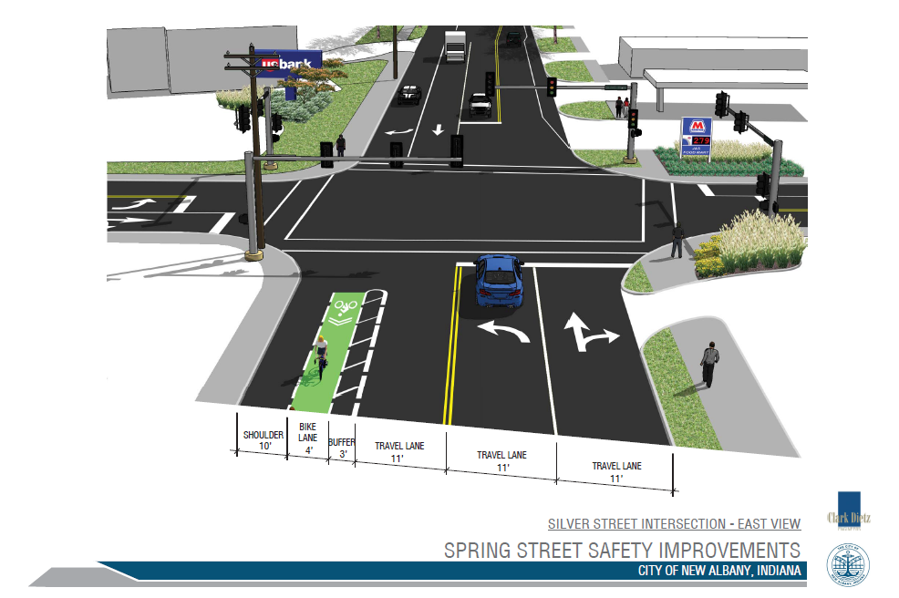 PROPOSED REDESIGN FOR THE SPRING AND SILVER INTERSECTION.