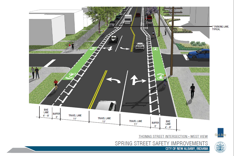 PROPOSED REDESIGN FOR THE SPRING STREET & THOMAS STREET INTERSECTION, WHICH LEADS UP TO THE SPRING & SILVER INTERSECTION.
