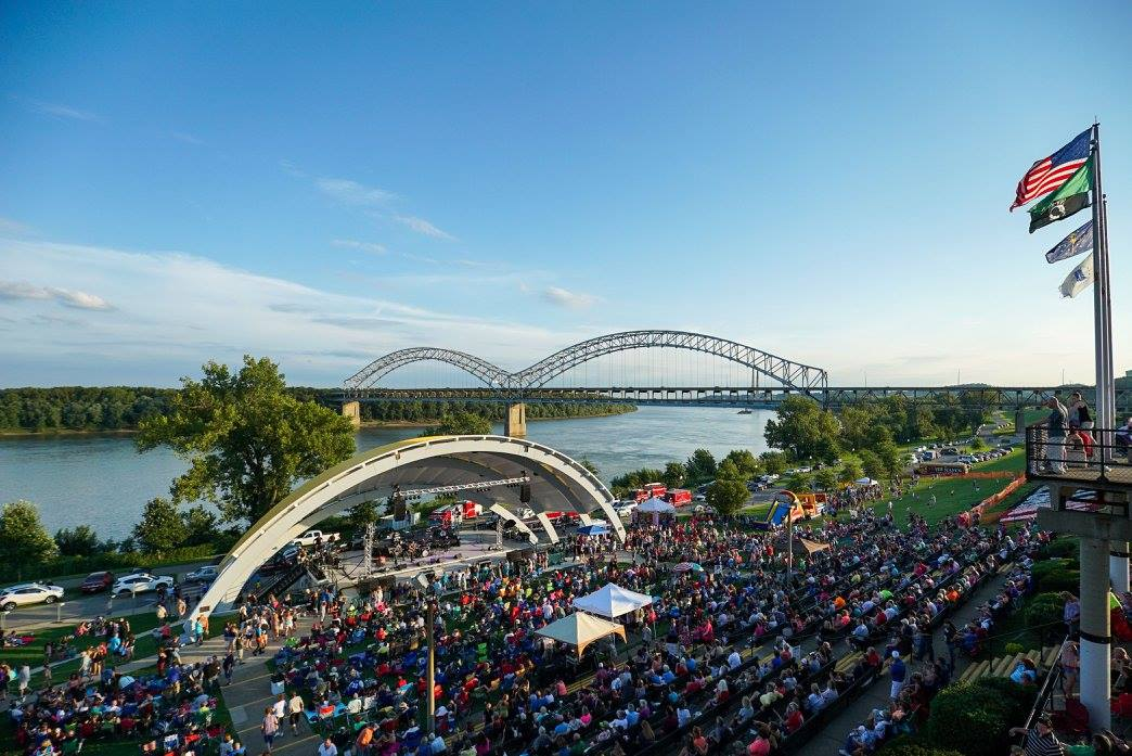 August 6th, 2016. Summer Celebration at the New Albany Riverfront Amphitheater.