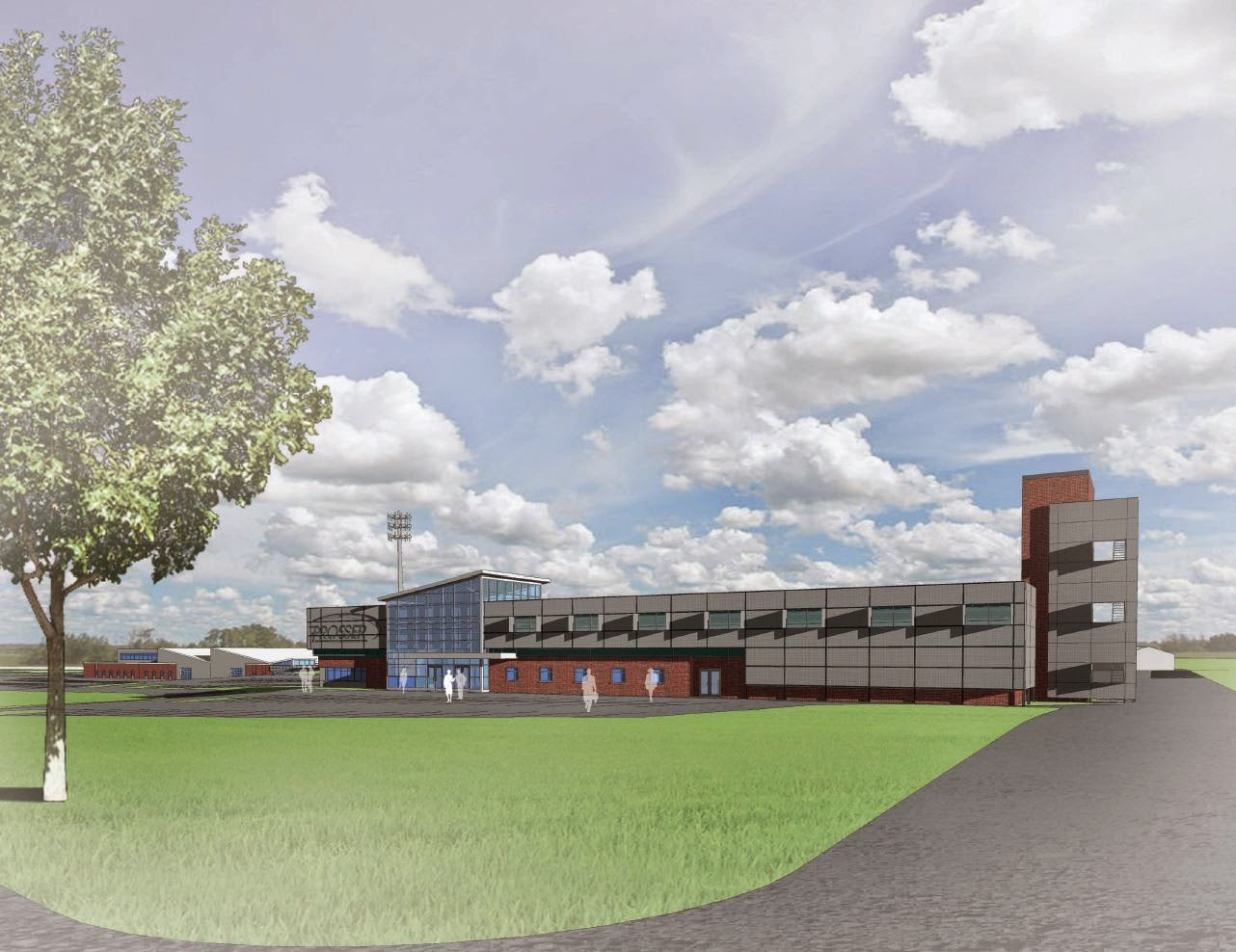 A rendering of the proposed update to Prosser Career Education Center.