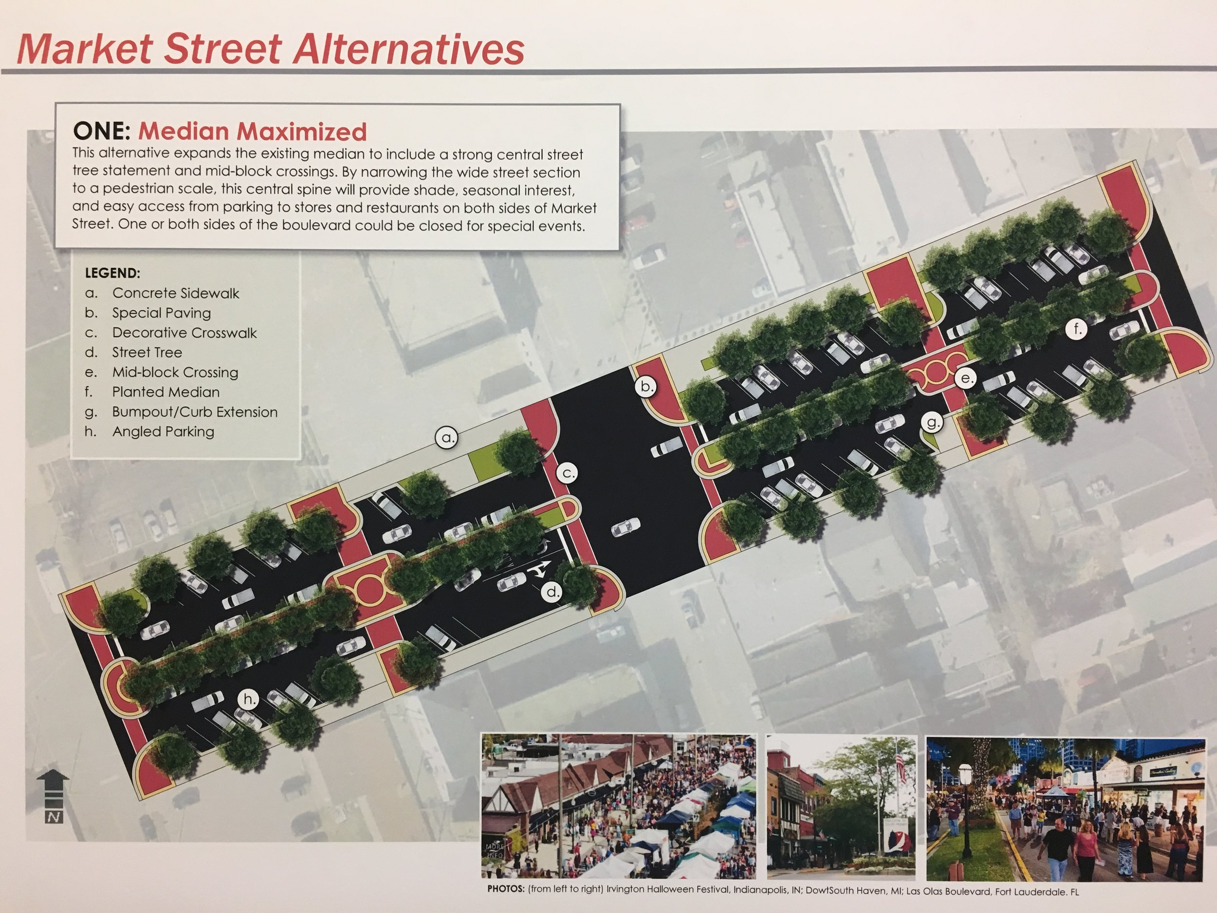 One rendering of potential Market Street improvements.