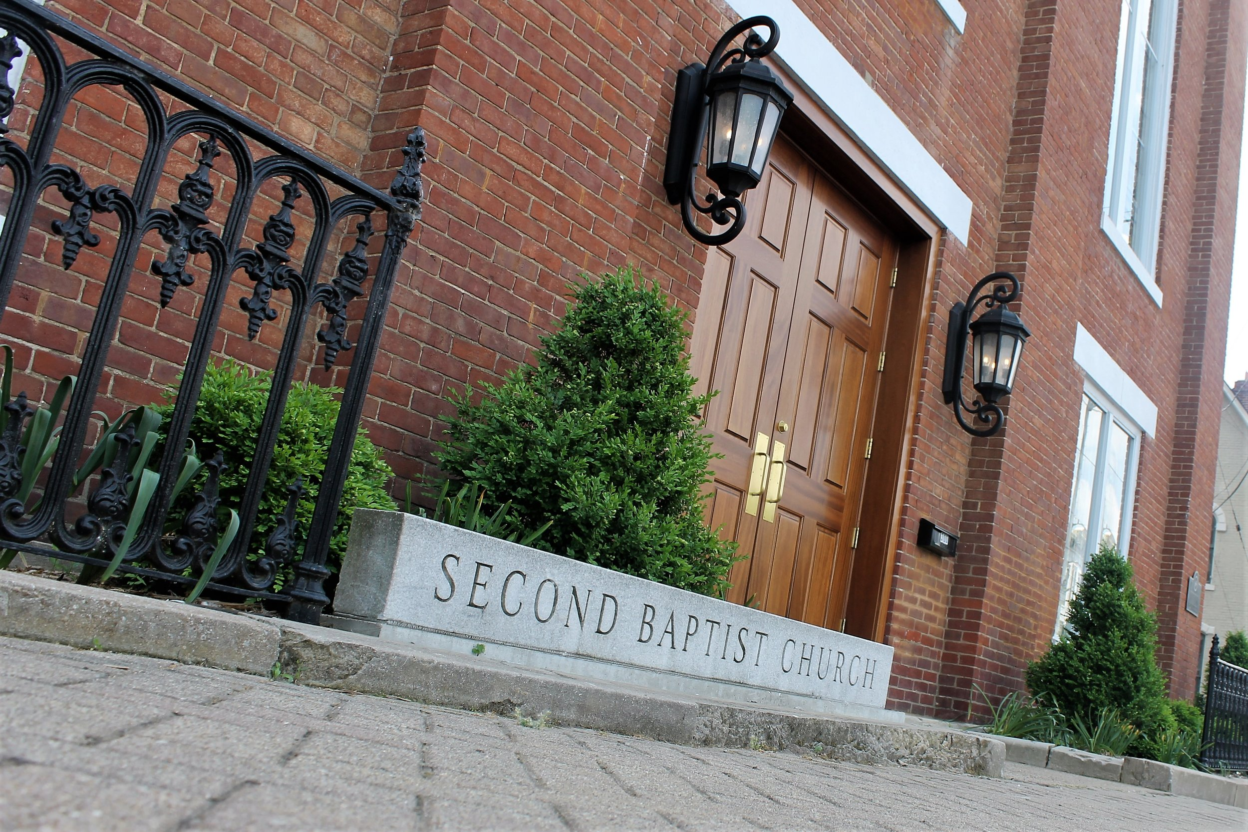 Second Baptist Church on Main Street in New Albany.