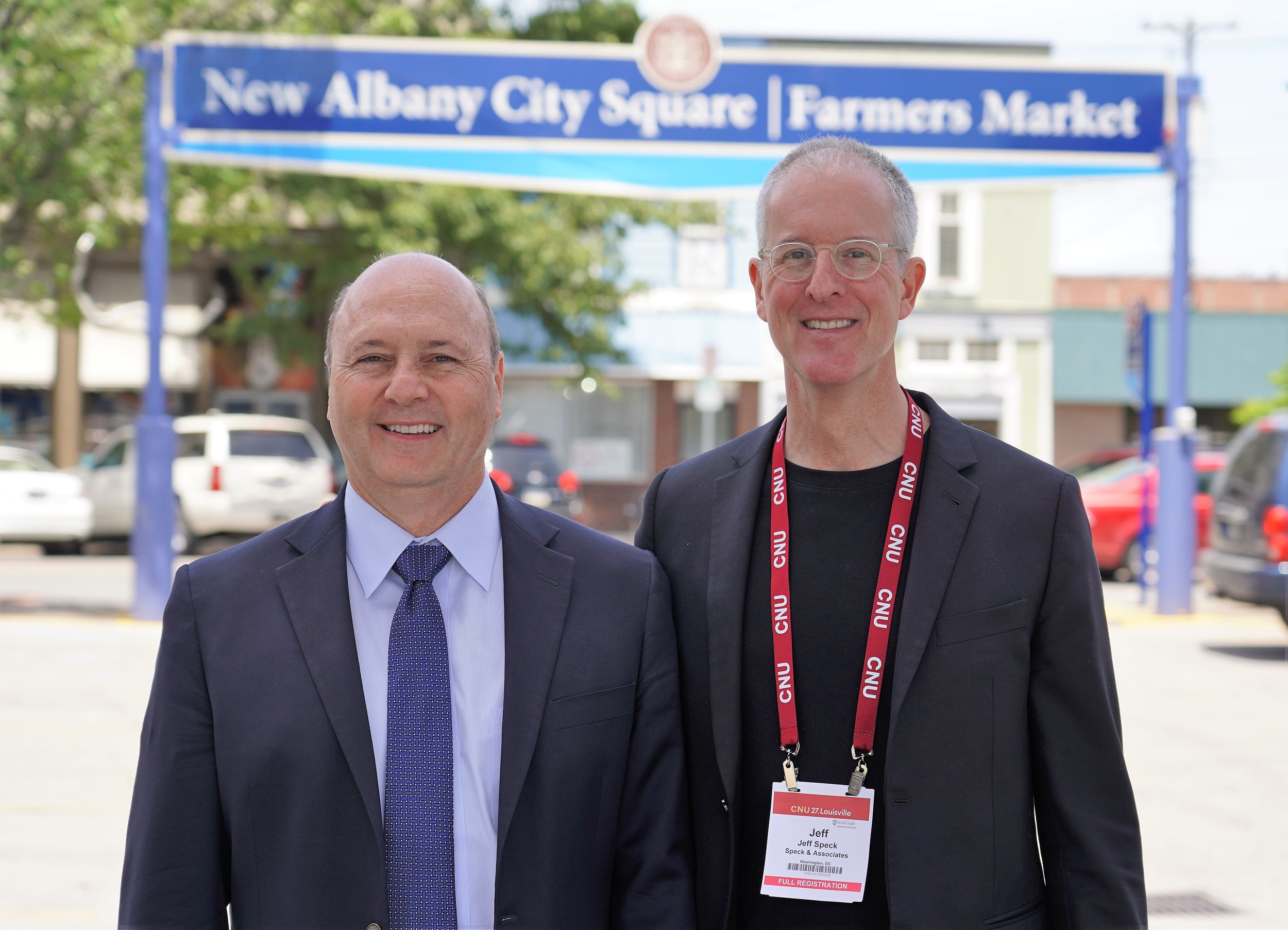 Mayor Jeff Gahan and renowned city-planner Jeff Speck.