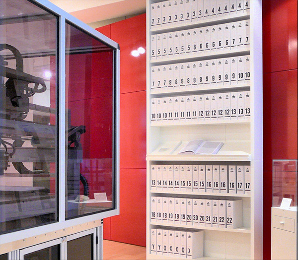 The human genome transcribed into more than a hundred volumes. Each book is a thousand pages long, written in type so tiny it can hardly be read. Photo by Russ London. License: CC-BY-SA-3.0