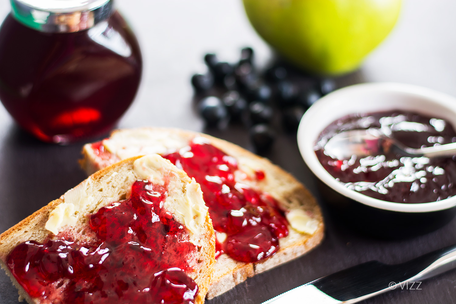 sloe and apple jelly
