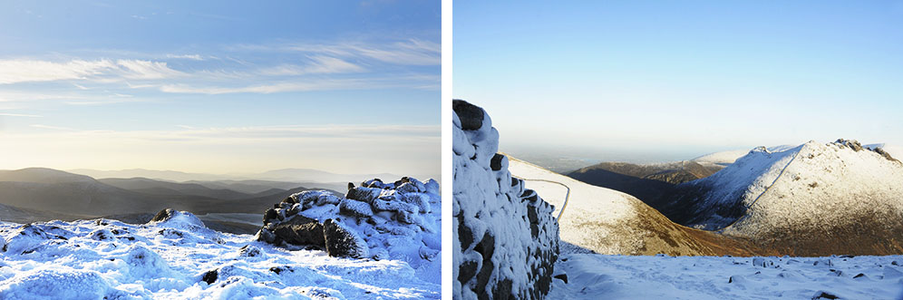 Breathtaking views from top of Mourne Mountains