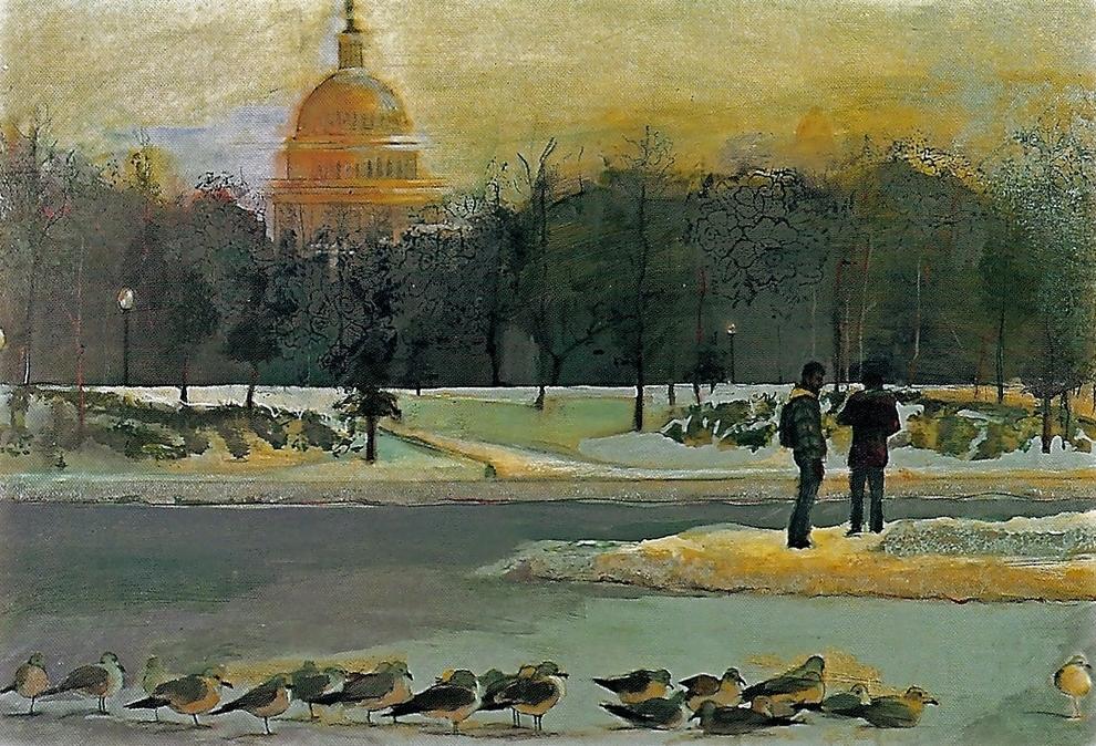 'Washington', oil, 3' x 4'