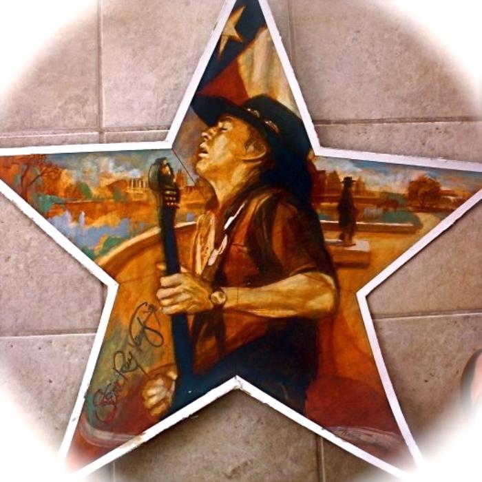 """'Stevie Star', oil,  available as 6"""" ornament, or 12"""",18"""",30"""" Barn Star"""